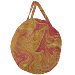 Texture Pattern Abstract Art Giant Round Zipper Tote