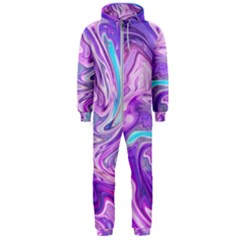 Abstract Art Texture Form Pattern Hooded Jumpsuit (men)