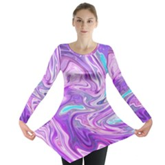 Abstract Art Texture Form Pattern Long Sleeve Tunic