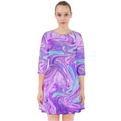 Abstract Art Texture Form Pattern Smock Dress