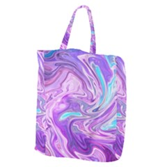 Abstract Art Texture Form Pattern Giant Grocery Zipper Tote