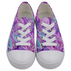Abstract Art Texture Form Pattern Kids  Low Top Canvas Sneakers
