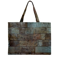 Wall Stone Granite Brick Solid Mini Tote Bag by Nexatart