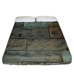 Wall Stone Granite Brick Solid Fitted Sheet (king Size)