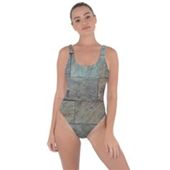 Wall Stone Granite Brick Solid Bring Sexy Back Swimsuit