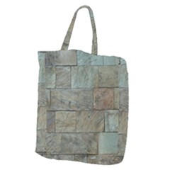 Wall Stone Granite Brick Solid Giant Grocery Zipper Tote