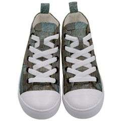 Wall Stone Granite Brick Solid Kid s Mid Top Canvas Sneakers