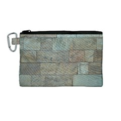 Wall Stone Granite Brick Solid Canvas Cosmetic Bag (medium)