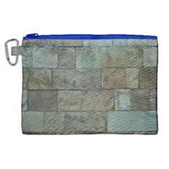 Wall Stone Granite Brick Solid Canvas Cosmetic Bag (xl)