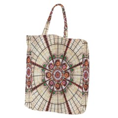 Pattern Round Abstract Geometric Giant Grocery Zipper Tote