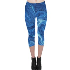 Abstract Pattern Texture Art Capri Leggings