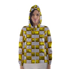 Pattern Desktop Square Wallpaper Hooded Wind Breaker (women)