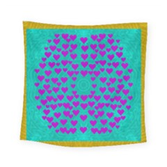 Raining Love And Hearts In The  Wonderful Sky Square Tapestry (small) by pepitasart