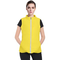 Yellow Women s Puffer Vest by Teresa20114