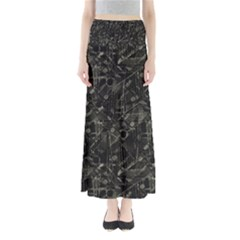 Abstract Collage Patchwork Pattern Full Length Maxi Skirt by dflcprints