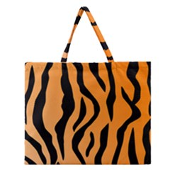 Tiger Fur 2424 100p Zipper Large Tote Bag