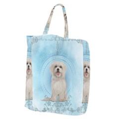 Cute Little Havanese Puppy Giant Grocery Zipper Tote by FantasyWorld7