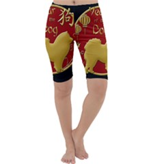 Year Of The Dog   Chinese New Year Cropped Leggings