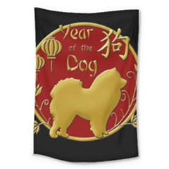 Year Of The Dog   Chinese New Year Large Tapestry by Valentinaart