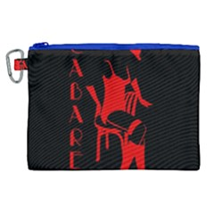 Cabaret Canvas Cosmetic Bag (xl) by Valentinaart
