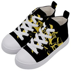 Cabaret Kid s Mid Top Canvas Sneakers by Valentinaart