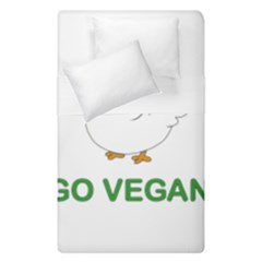 Go Vegan   Cute Chick  Duvet Cover Double Side (single Size) by Valentinaart