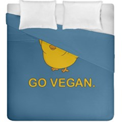 Go Vegan - Cute Chick  Duvet Cover Double Side (king Size) by Valentinaart