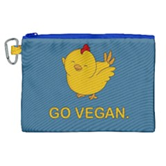 Go Vegan   Cute Chick  Canvas Cosmetic Bag (xl) by Valentinaart