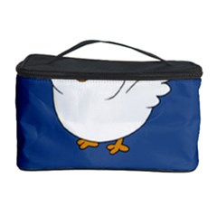 Go Vegan - Cute Chick  Cosmetic Storage Case by Valentinaart
