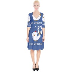 Go Vegan - Cute Chick  Wrap Up Cocktail Dress by Valentinaart