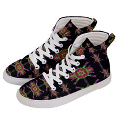 Paradise Flowers In A Decorative Jungle Women s Hi Top Skate Sneakers by pepitasart