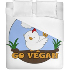 Go Vegan   Cute Chick  Duvet Cover (california King Size) by Valentinaart