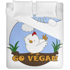 Go Vegan   Cute Chick  Duvet Cover Double Side (california King Size) by Valentinaart