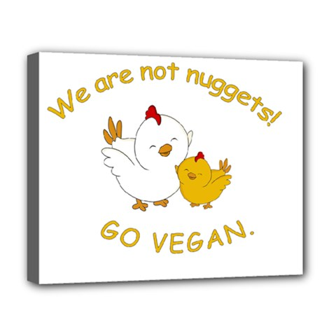 Go Vegan   Cute Chick  Deluxe Canvas 20  X 16