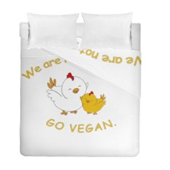 Go Vegan   Cute Chick  Duvet Cover Double Side (full/ Double Size)