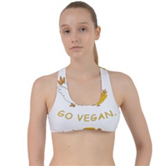 Go Vegan   Cute Chick  Criss Cross Racerback Sports Bra