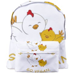 Go Vegan   Cute Chick  Giant Full Print Backpack by Valentinaart