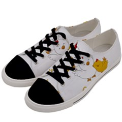 Go Vegan   Cute Chick  Men s Low Top Canvas Sneakers by Valentinaart