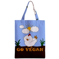 Go Vegan   Cute Chick  Classic Tote Bag by Valentinaart