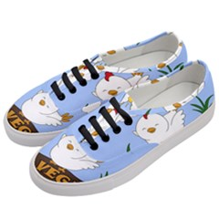 Go Vegan   Cute Chick  Women s Classic Low Top Sneakers by Valentinaart