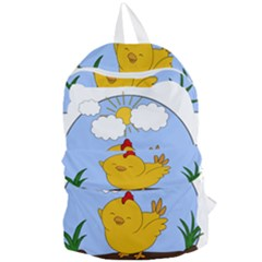 Go Vegan - Cute Chick  Foldable Lightweight Backpack by Valentinaart