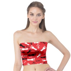 Red Tube Top by HASHHAB