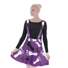 Purple Suspender Skater Skirt by HASHHAB