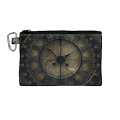Steampunk, Wonderful Noble Steampunnk Design Canvas Cosmetic Bag (medium)