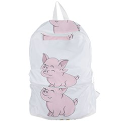 Go Vegan   Cute Pig Foldable Lightweight Backpack by Valentinaart