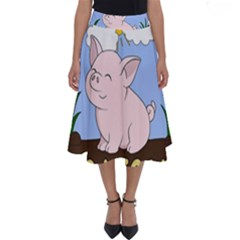 Go Vegan   Cute Pig Perfect Length Midi Skirt