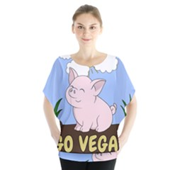 Go Vegan   Cute Pig Blouse