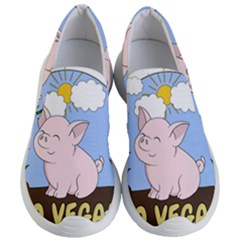 Go Vegan   Cute Pig Women s Lightweight Slip Ons