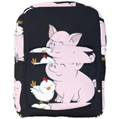 Go Vegan   Cute Pig And Chicken Full Print Backpack