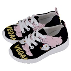 Go Vegan   Cute Pig And Chicken Kids  Lightweight Sports Shoes by Valentinaart